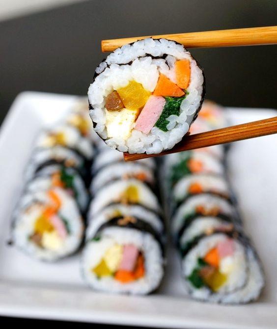 Easy Kimbap- Fish Free Hand Rolls