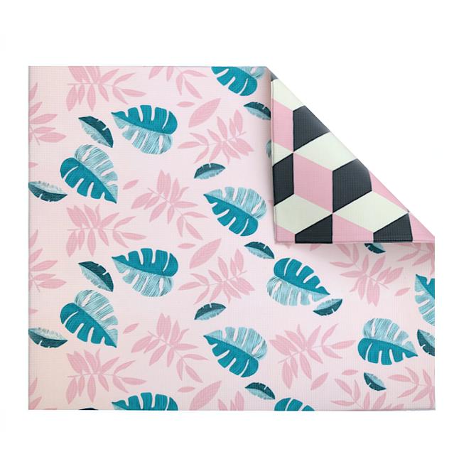 Pink Leaf/Geo Play Mat